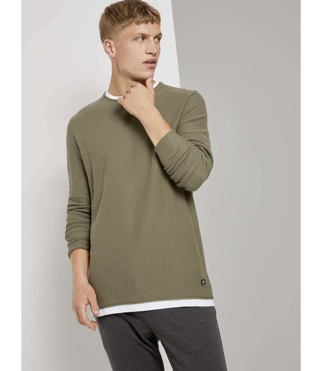 Structure Knit Light Weight Sweater