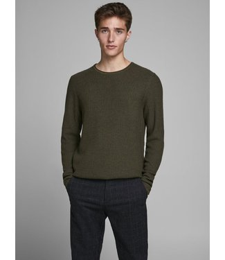 JACK & JONES Jacquard Crew Neck Knitted Pullover