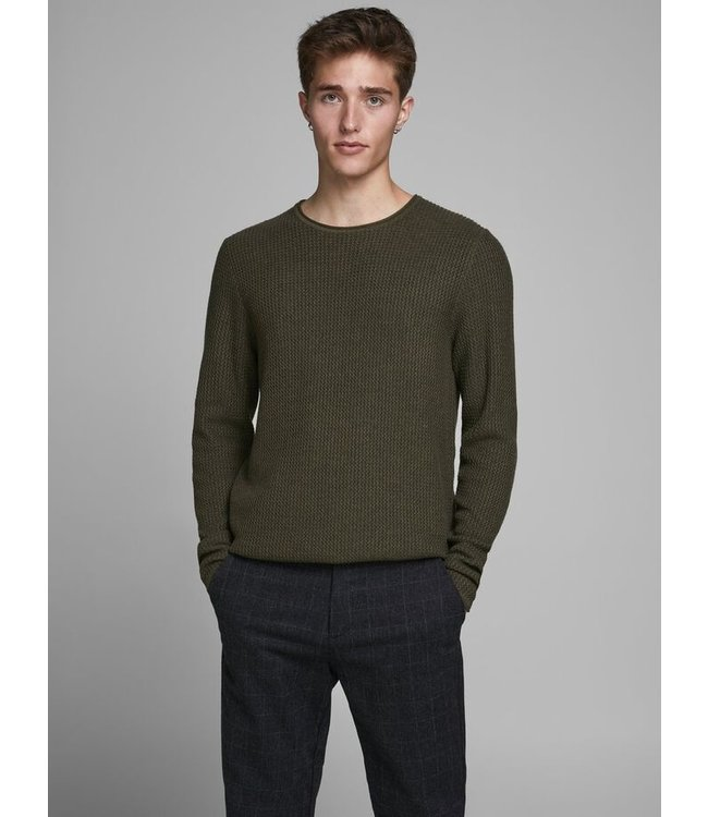 Jacquard Crew Neck Knitted Pullover
