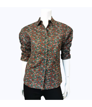 Vintage Indian Summer Basics Floral Blouse