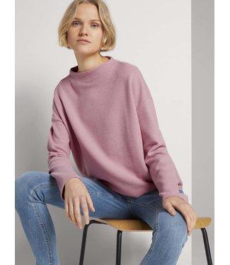 TOM TAILOR Sweatshirt w/ short stand-up collar