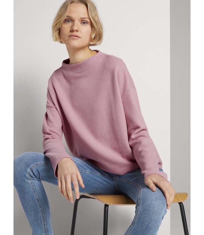 Sweatshirt w/ short stand-up collar