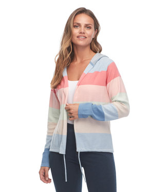 FDJ FRENCH DRESSING Rainbow Stripe Long Sleeve Hoodie Cardigan
