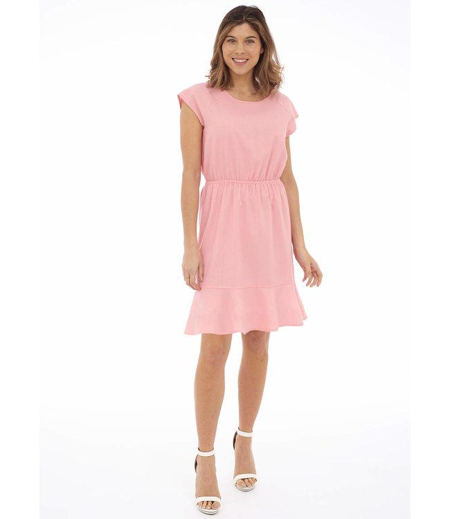 Dress w/ Elastic Waist And Ruffled Hem