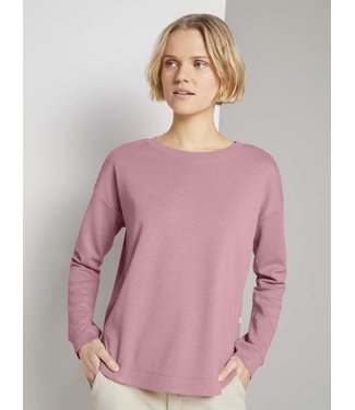 TOM TAILOR Sweater With Rounded Hem