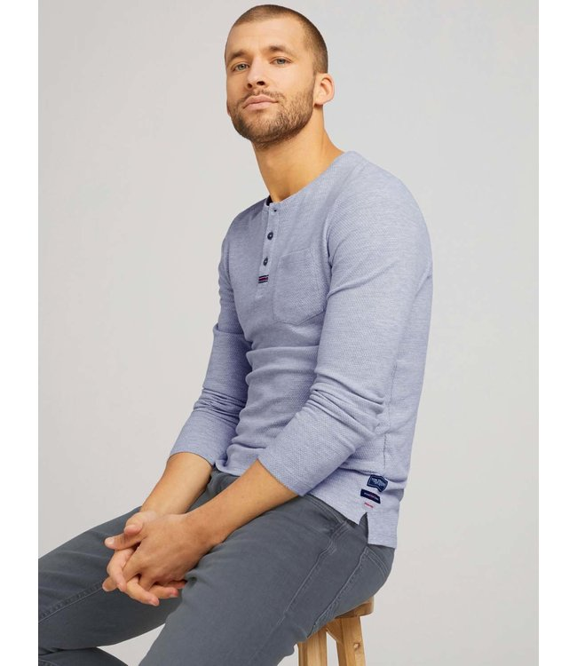 Henley With Structured Fabric