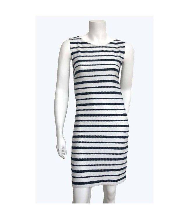 Sleeveless Novelty Knit Shift Dress