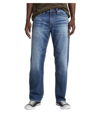 SILVER JEANS HUNTER LOOSE ATHLETIC FIT TAPERED LEG