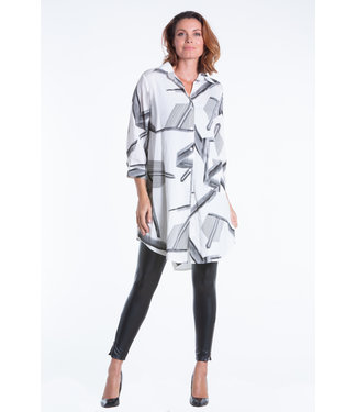 Nu Look Fashions Button Up Shirt With Abstract Print