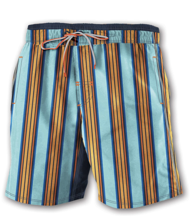 VERTICAL STRIPE SWIM TRUNK