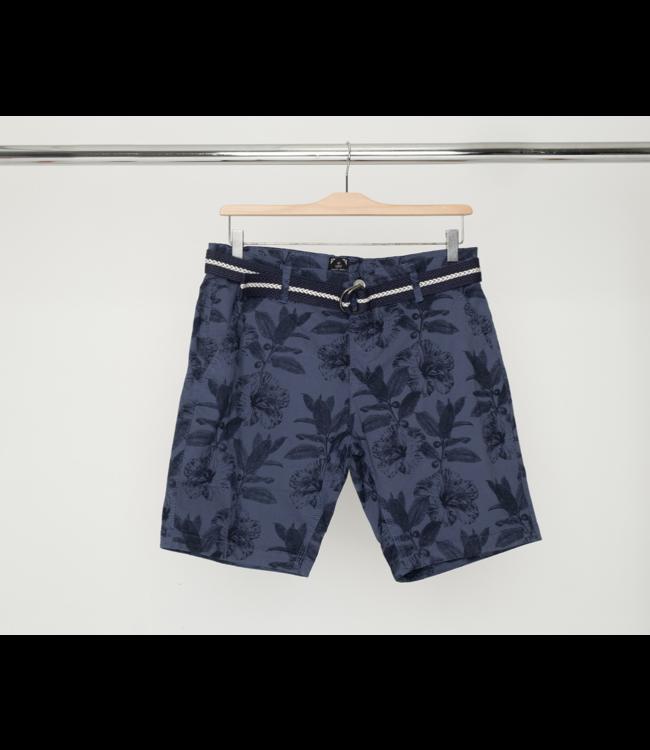 Printed Chino Shorts w/ Belt