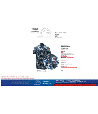 POINT ZERO 4-WAY STRETCH DRY EDITION FLORAL PRINT SHORT SLEEVE SHIRT