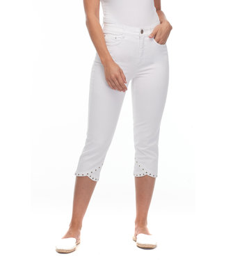 FDJ FRENCH DRESSING Suzanne Capri with Grommet Detail