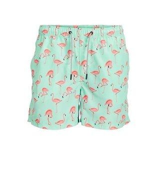 JACK & JONES Aruba Swim Shorts Flamingo Print