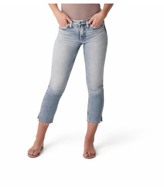 SILVER JEANS MOST WANTED MID RISE STRAIGHT CROP JEANS