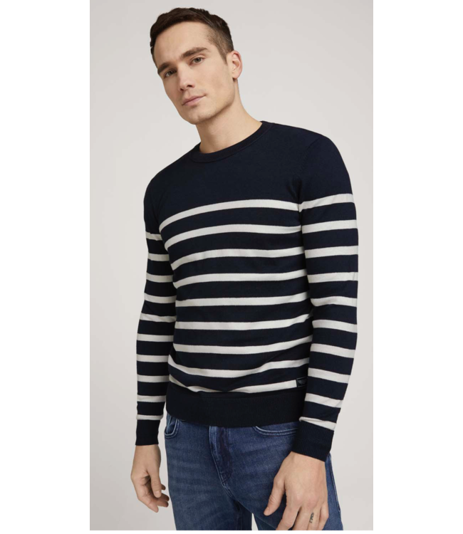 Striped sweater made with organic cotton