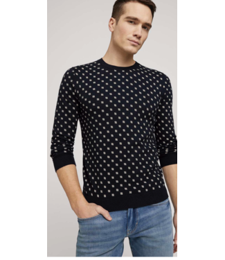 TOM TAILOR Printed sweater made with organic cotton