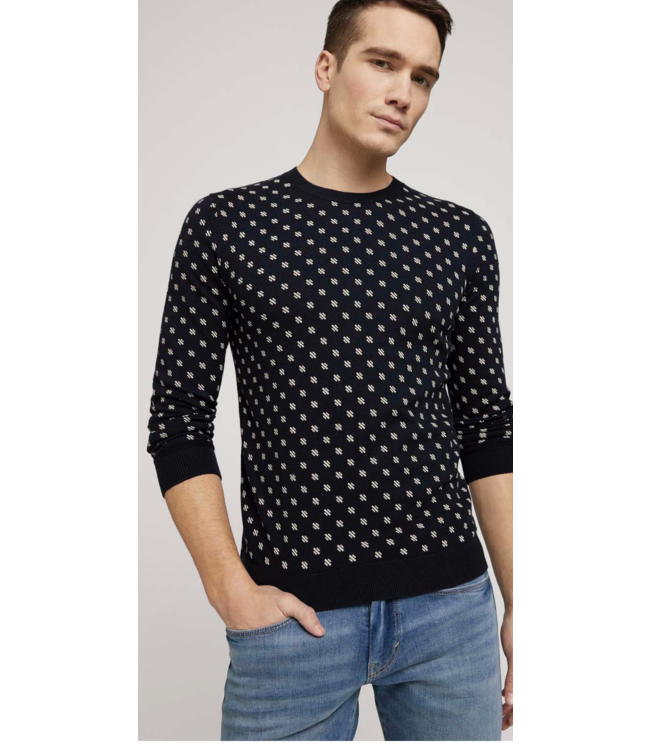 Printed sweater made with organic cotton