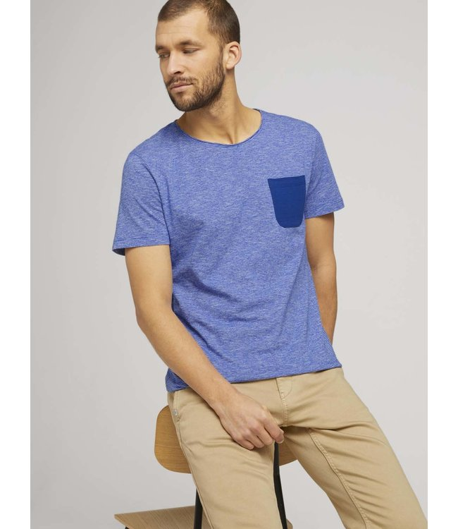 Structured T-shirt with pocket