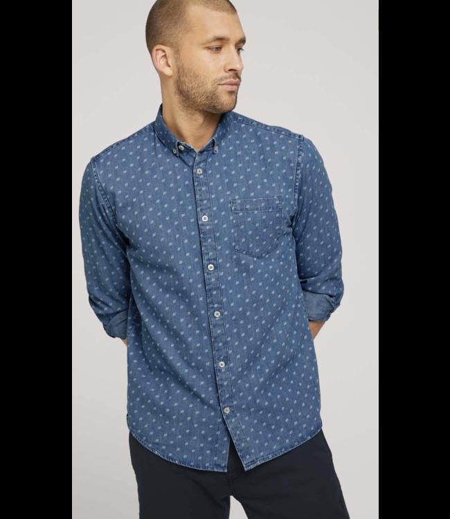 Regular organic denim shirt made with organic cotton