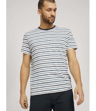 TOM TAILOR Multi striped t-shirt