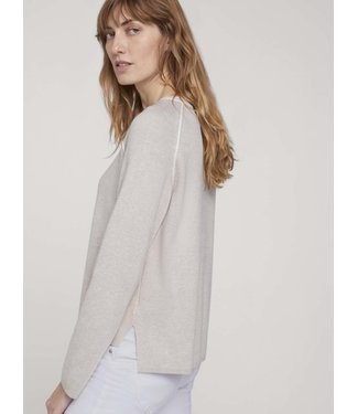 TOM TAILOR Sweater with  side slit