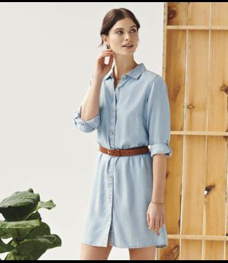 HATLEY Cara Shirt Dress - Denim