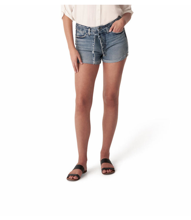 SILVER JEANS SURE THING HIGH RISE SHORT with Tie