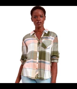 POINT ZERO Long Sleeve Button Up Check Shirt