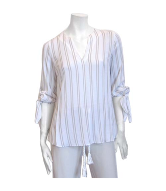 POINT ZERO Long Sleeve  Blouse with Ties
