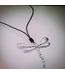 KENNETH BELL LARGE HEART TAIL DRAGONFLY NECKLACE