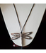 KENNETH BELL SILVER RING TAIL DRAGONFLY NECKLACE  W/ EARRINGS