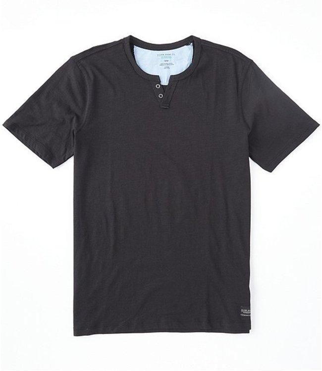 Silver Jeans Co. Short-Sleeve Organic Henley Shirt