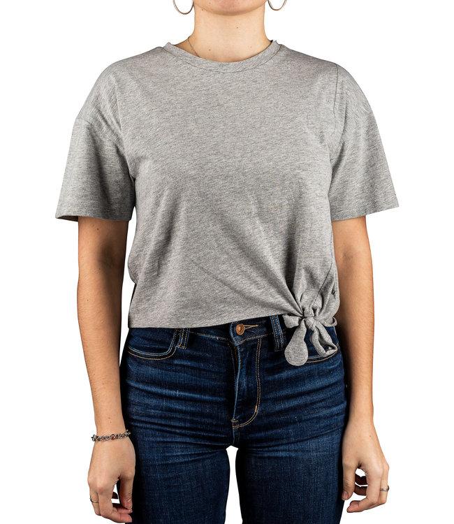 Silver Jeans Slub Jersey Tie Front Tee