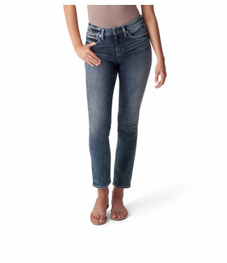 SILVER JEANS Avery High Rise Curvy Fit Straight Leg