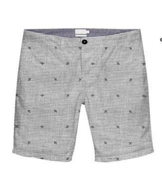 POINT ZERO FLAT FRONT PRINTED BEES SHORT 10INCH