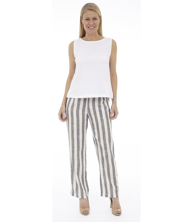 Pull-On Loose Fit Pant with Back Elastic Wasitband and Pockets