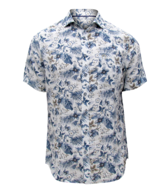 POINT ZERO SHORT SLEEVE SHIRT WITH FLORAL PRINT