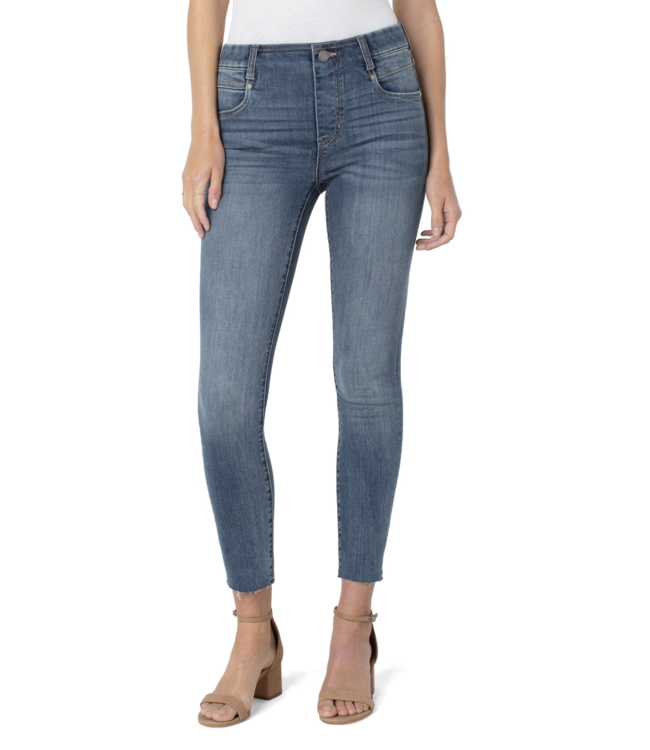 """GIA GLIDER ANKLE SKINNY WITH CUT HEM 28"""""""