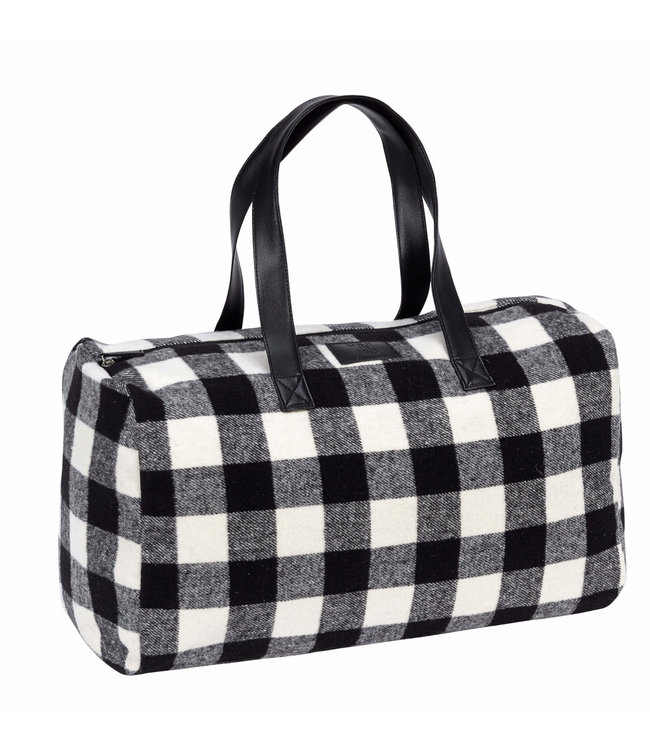 Buffalo Check Duffle Bag W/Inner Pockets