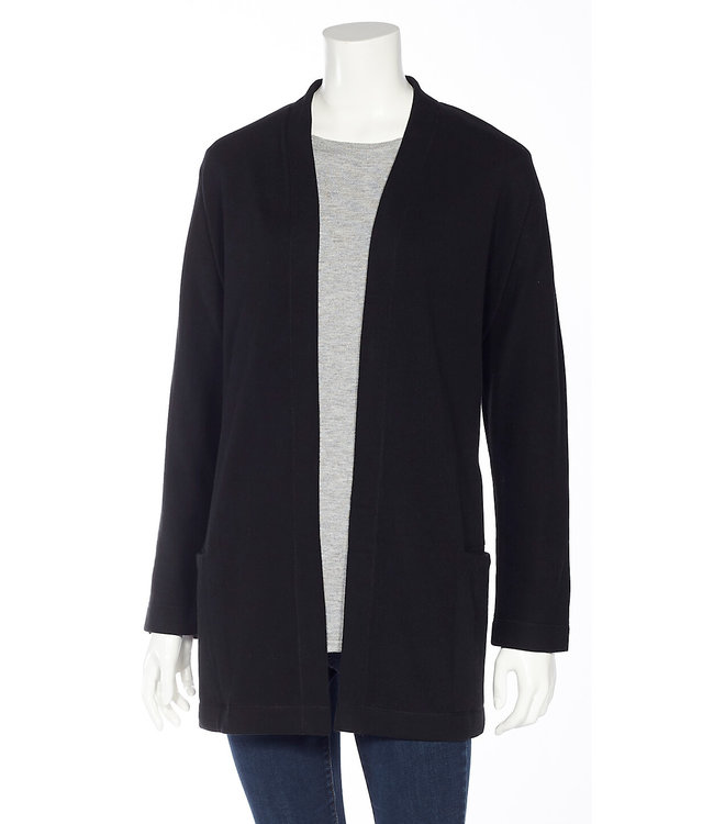 Dolman Long Sleeve Open Cardigan with Back Centre Seam and Pockets