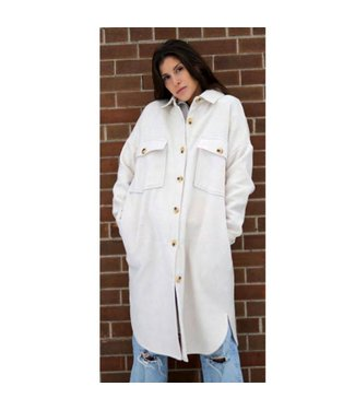 RD International Cassey Long Length Boxed Shaped Solid Jacket (Please note this item is available in black only)