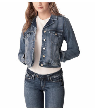 SILVER JEANS FITTED JEAN JACKET