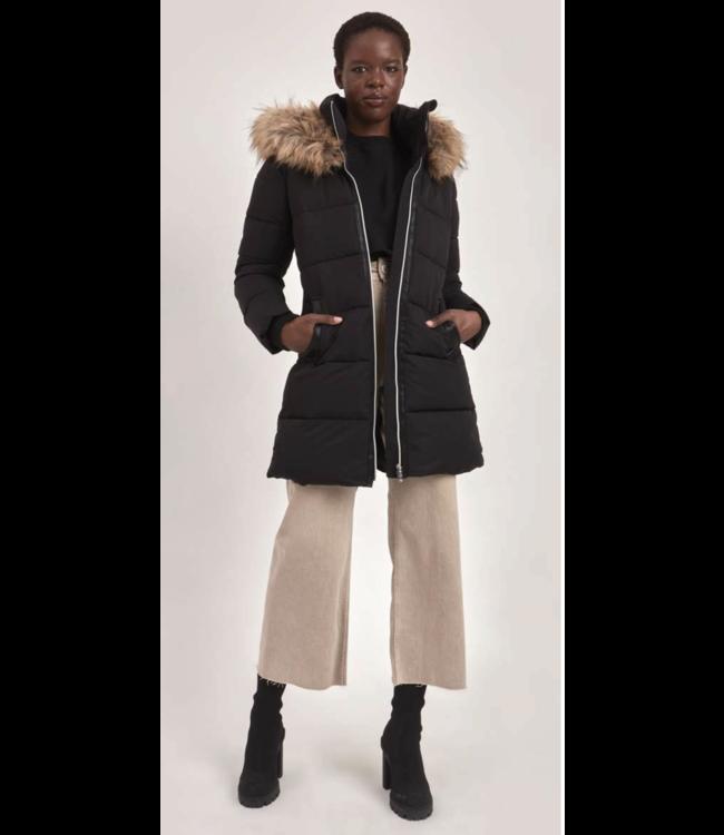 Long Full Zip Puffer Jacket