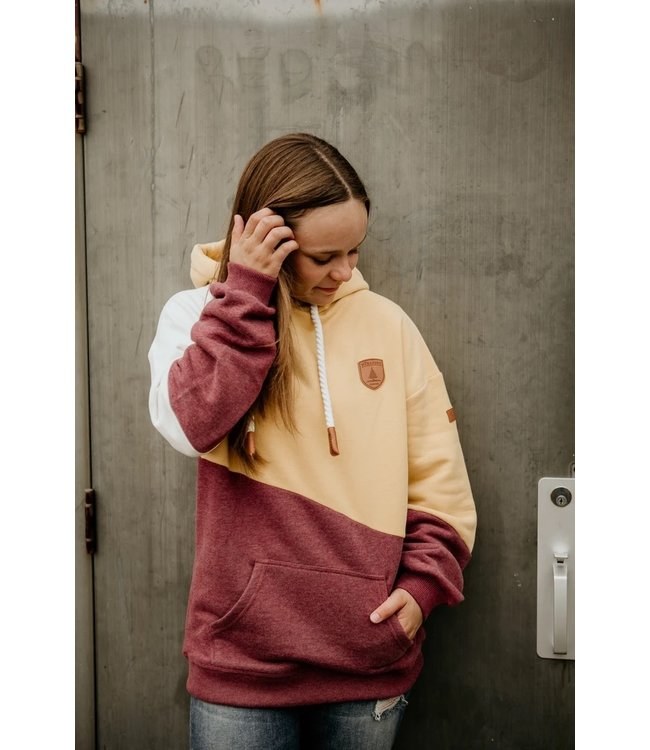 WANAKOME COREY COLOUR BLOCKED PULLOVER HOODIE
