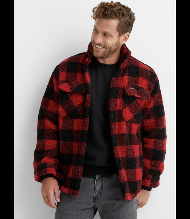 Hunter Check &  Sherpa Overshirt