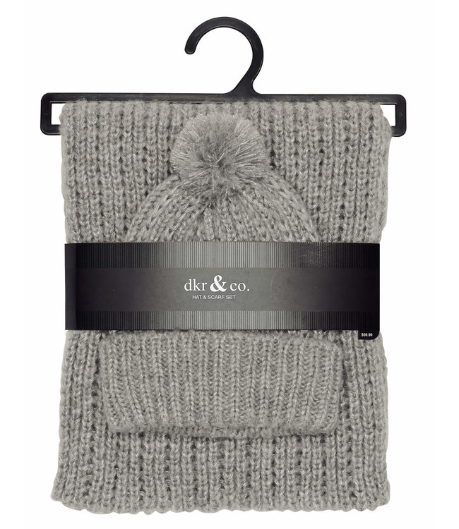 Ladies Knit Hat and Scarf Combo Pack