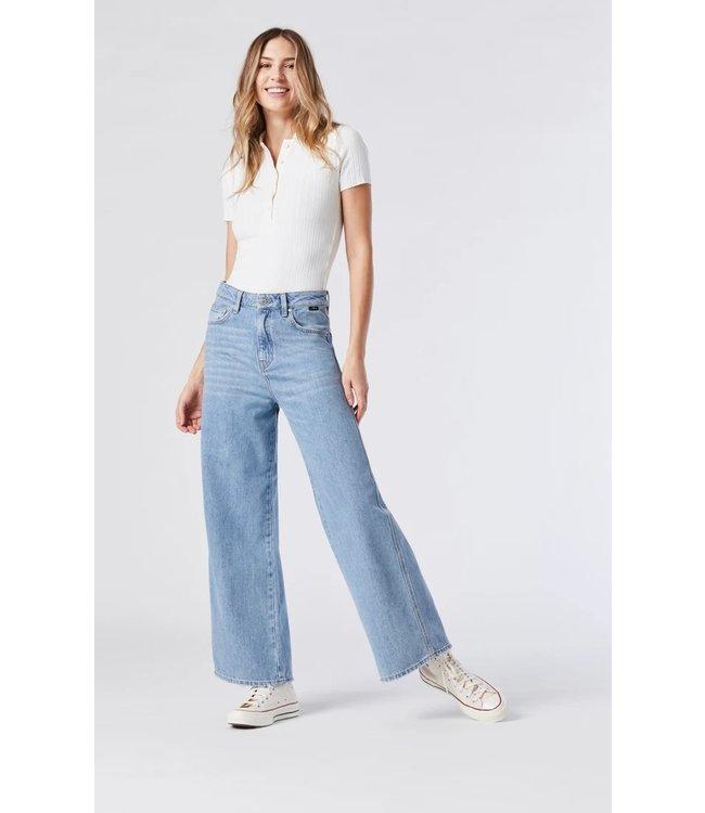 MIAMI LIGHT BLUE ORGANIC BLUE High Rise | Wide Leg Jeans
