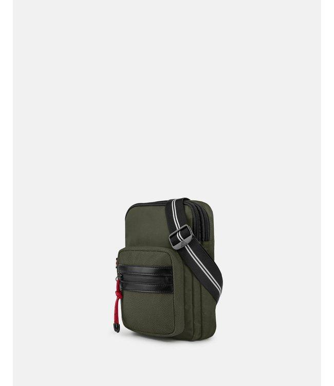 MOUFLON - ANDROMEDA SLING BAG WITH ADJUSTABLE WEBBED STRAP - KHAKI