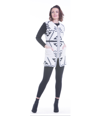 Nu Look Fashions Short Sleeve Full Length Zipper Sweater with pockets